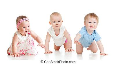 rigolote, tout, fours., concept., concurrence, bas, bébés, aller