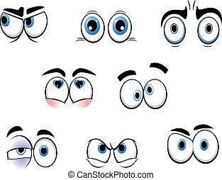 rigolote, yeux, dessin animé