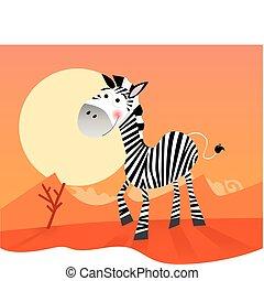 rigolote, zebra