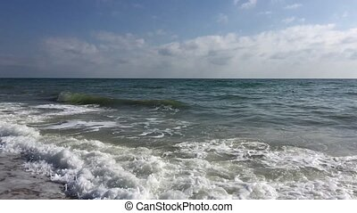 rivage, mer noire, vue