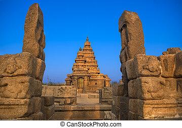 rivage, temple