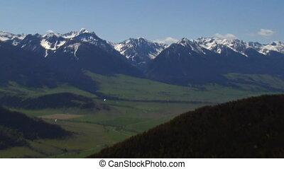 rivière, livington, yellowstone, vallée paradis, montana