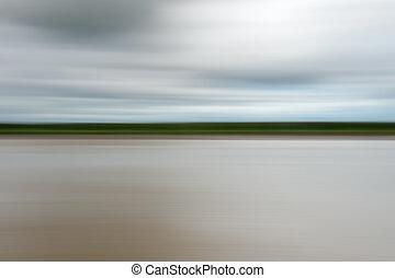 rivière, nature, résumé, barbouillage, fond, mouvement