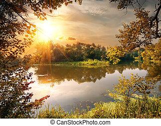 rivière, octobre