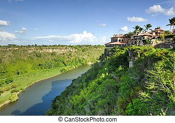 rivière, république, chavon, dominicain