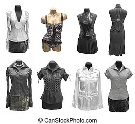 robe, mannequin, collection