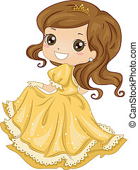 robe, princesse