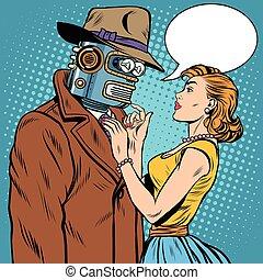 robot, girl, intelligence, artificiel, fiction