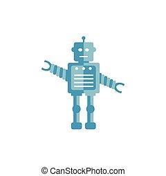 robot, illustration, icône