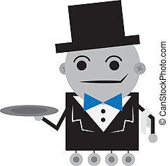 robot, maître d'hôtel