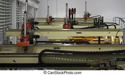 robotique, 2, montage, usine