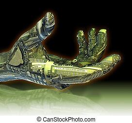 robotique, main