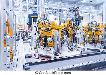robots, plante, voiture