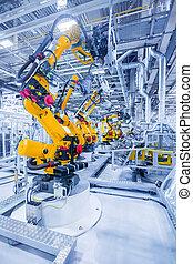 robots, usine voiture