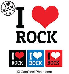 rocher, étiquettes, amour, signe