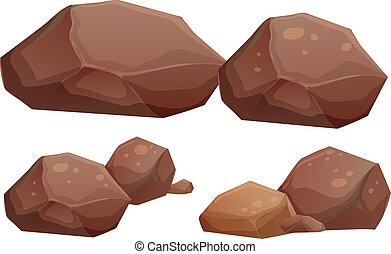 rochers, grand, petit