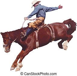 rodeo., cow-boy