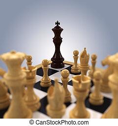 roi, acculé, échecs