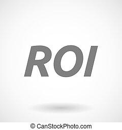 roi, acronyme, retour, investissement, illustration