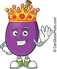 roi, caractère, winne, fruit, délicieux, dessin animé