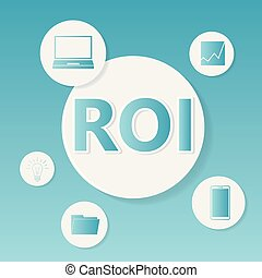 roi, concept, (return, business, investment)