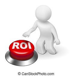 roi, investment), bouton, homme, (return, 3d