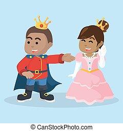 roi, princesse, africaine