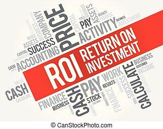 roi, -, retour, investissement