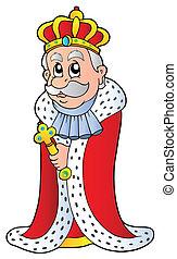 roi, tenue, sceptre