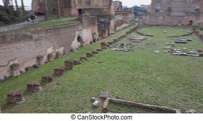 romain, ancien, domitian, stade