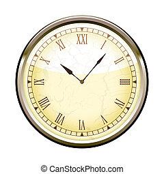 romain, horloge
