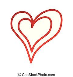 romance, coeur, passion, linéaire, amour
