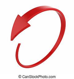 rond, flèche, rouges