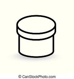 rond, illustration, vecteur, boîte, icon-