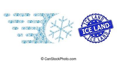 rond, recursive, timbre, terre, icône, grunge, composition, cachet, glace, glacial, jeûne