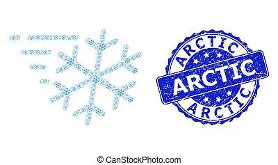 rond, timbre, fractal, arctique, icône, gelée, vent, détresse, composition