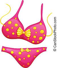 rose, bikini