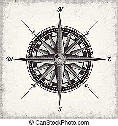rose, blanc, noir, compas
