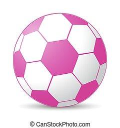 rose, boule football