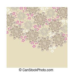rose, brun, conception, floral