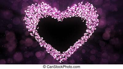 rose, coeur, fleur, rose, forme, pétales, mat, sakura, alpha, placeholder, boucle
