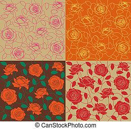 rose, ensemble, seamless