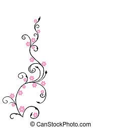 rose, floral, fleurs, fond, feuillage