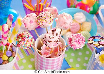 rose, gosses, guimauve, coloré, bruits secs, bonbons, anniversaire, fait maison, fête, table, autre