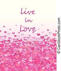 rose, lettrage, mode, amour, affiche, valentines, seamless, conception, vivant, papier peint, cœurs, impression, fête, frontière, jour, salutations