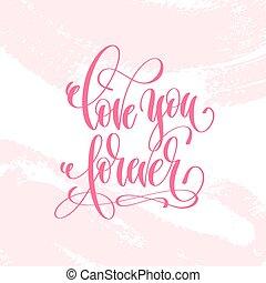 rose, lettrage, toujours, amour, affiche, -, main, coup, papa, brosse, vous