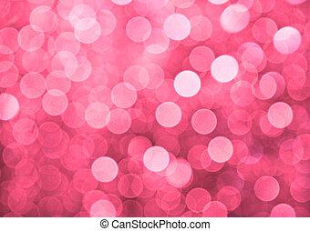 rose, lumières, defocused