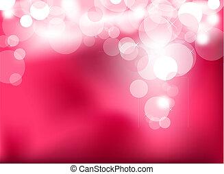 rose, lumières, résumé, incandescent