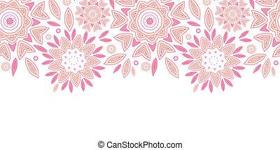 rose, modèle, résumé, seamless, fond, horizontal, fleurs
