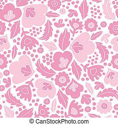 rose, modèle, seamless, silhouettes, fond, floral, doux